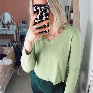 vintage green cropped top
